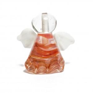 Engel aus Klarglas mit Erdbeertraum|Strawberry Dream